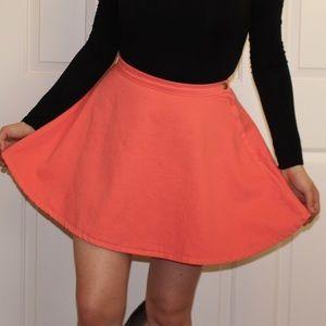 American Apparel Salmon Denim Circle Skirt
